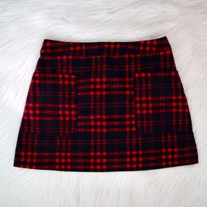 LF Seek the Label Plaid Mini Skirt